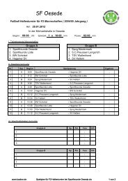 Spielplan für F2 Hallenturnier.pdf - Sportfreunde Oesede