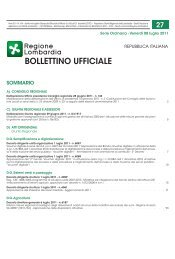 BURL n.27 Serie Ordinaria dell'8 luglio 2011 - Semplificazione e ...