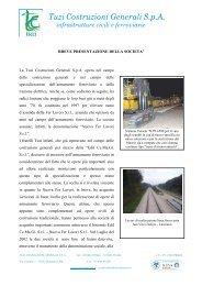 Tuzi Costruzioni Generali SpA infrastrutture civili e ferroviarie