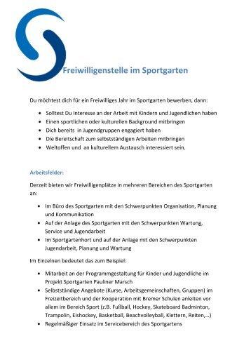 Stellenbeschreibung FSJ [PDF]