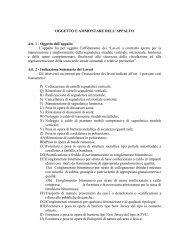OGGETTO E AMMONTARE DELL'APPALTO Art. 1 - Comune di ...