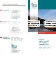 Programm Schulterkurs 2013 - Arcus Sportklinik