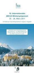 10. Internationales ARCUS-Wintersymposium 19 ... - Arcus Sportklinik
