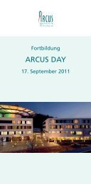 ARCUS DAY - Arcus Sportklinik