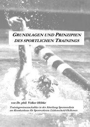 grundlagen und prinzipien des sportlichen trainings - Sportklinik ...