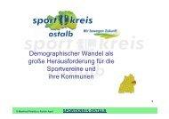 Demographischer Wandel als große ... - Sportkreis Ostalb