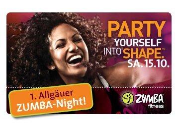 Flyer ZUMBA-Night zum Download - SPORTPark Waltenhofen