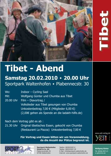 Tibet - Abend - SPORTPark Waltenhofen
