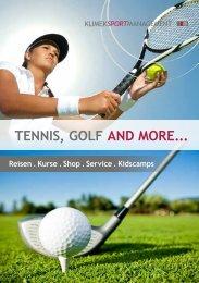 Tennis, Golf and more ... Unternehmensbroschüre als PDF!