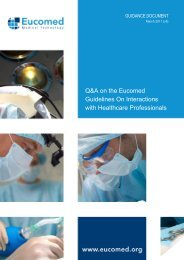 Q&A on the Eucomed Guidelines On Interactions with Healthcare ...
