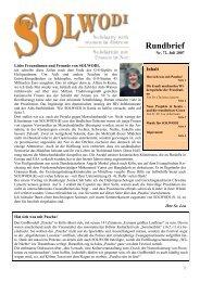 Rundbrief Nr. 72 - Juli 2007 - Solwodi