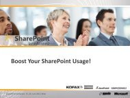 Boost Your SharePoint Usage! - Solvion information management