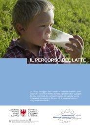 il percorso del latte