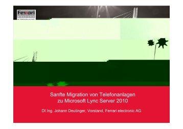 Sanfte Migration von Telefonanlagen hin zu Microsoft Lync