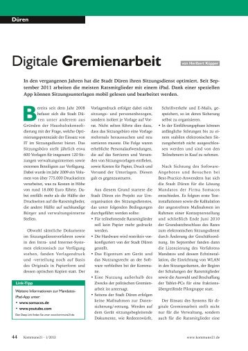 Digitale Gremienarbeit - Somacos