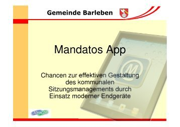 Mandatos App Vortrag 1.3 - Somacos