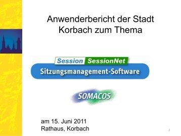 Anwenderbericht Stadt Korbach Session Sitzungsdienst - Somacos