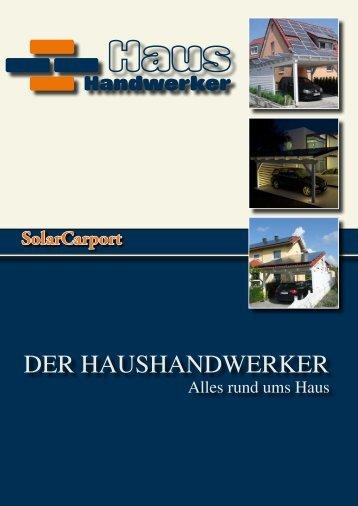 Der Haushandwerker-Solarcarport-Katalog - Sonnenhandwerker ...