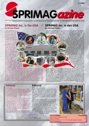 SPRIMAG Inc. in the USA / SPRIMAG Inc. in den USA by Michael ...