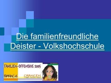 Die familienfreundliche Deister - Volkshochschule
