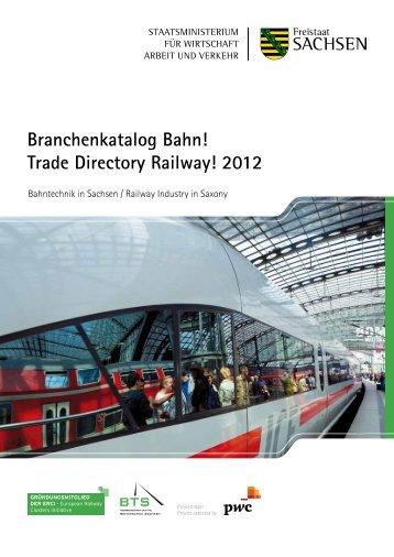 Branchenkatalog Bahn! Trade Directory Railway! 2012
