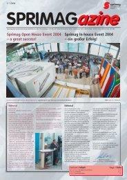 Sprimag In-house Event 2004 – ein großer Erfolg! Sprimag Open ...