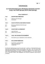 32 - 1 VERORDNUNG zur Aufrechterhaltung der ... - Stadt Springe