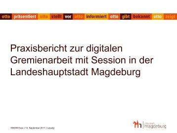 Praxisbericht zur digitalen Gremienarbeit mit Session in ... - Somacos