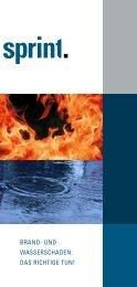 Brand- und Wasserschaden: das richtige tun! - Sprint Sanierung ...