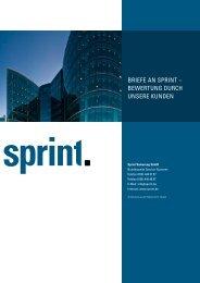 BEwErTuNg DurCh uNSErE KuNDEN - Sprint Sanierung GmbH