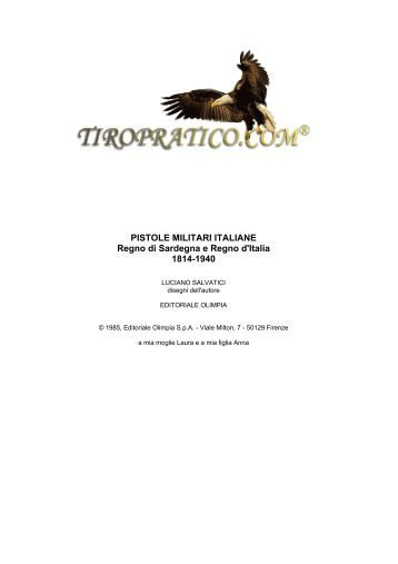 Pistole militari italiane 1814-1940 - Tiropratico.com