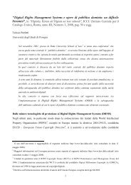 digital rights management systems e opere di ... - Computerlaw.it