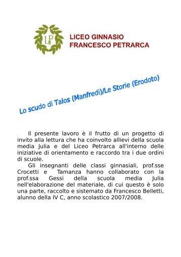 Comparazione Erodoto - Manfredi - Liceo Petrarca