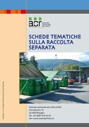 Informazioni sulla raccolta dei rifiuti riciclabili - Comune di Cureglia