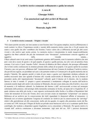 Guida inventario volume I - 1995 - Archivio storico ... - Altervista