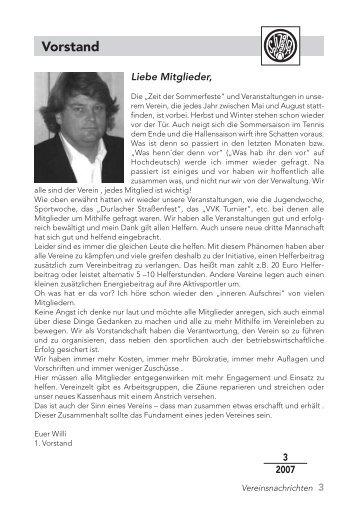 Heft Nr. 3 / 2007 - SpVgg. Durlach-Aue