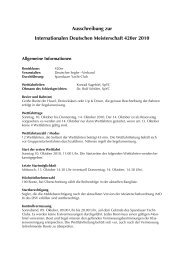 Ausschreibung zur Internationalen Deutschen Meisterschaft 420er ...