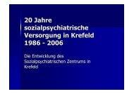 20 Jahre sozialpsychiatrische Versorgung in Krefeld