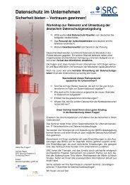 Datenschutz im Unternehmen - SRC GmbH
