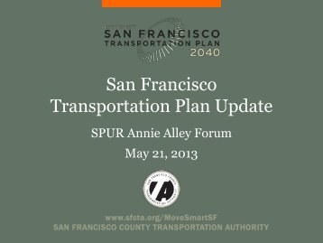 San Francisco Transportation Plan Update
