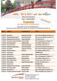 AGIL 24.9.2011 auf der Programm - Stadtsportbund Hannover e.V.