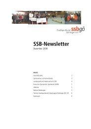 SSB Newsletter Nr. 33 / Dezember 2008 - Stadtsportbund Göttingen ...