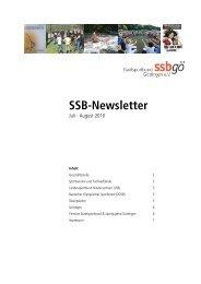 SSB-Newsletter - Stadtsportbund Göttingen eV