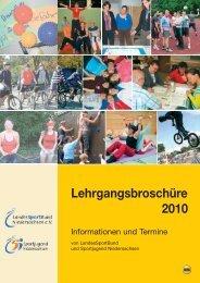 Lehrgangsbroschüre 2010 - Stadtsportbund Hannover e.V.
