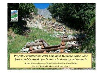 Progetti e realizzazioni della Comunità Montana Bassa Valle Susa e ...