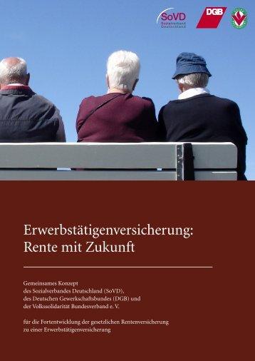 Erwerbstätigenversicherung: Rente mit Zukunft - SoVD