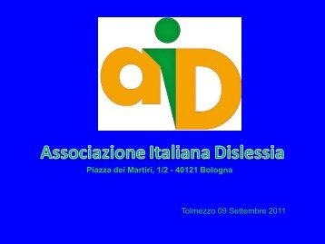 L'associazione Italiana Dislessia - Sbilf.eu