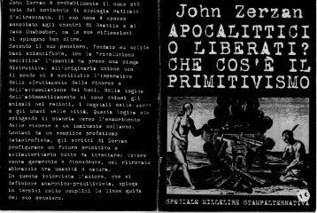 _ John Zerzan APOCALITTICI 'O LIBERATI? - Solideco