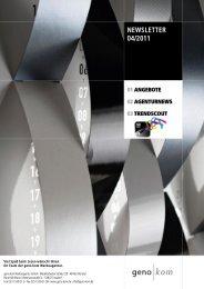 April 2011 - geno kom Werbeagentur GmbH