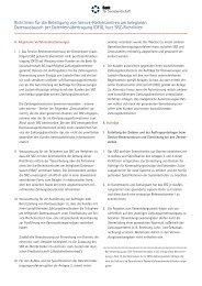 Richtlinien für die Beteiligung von Service-Rechenzentren am ...